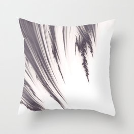 Deep Purple Fractal Design Throw Pillow