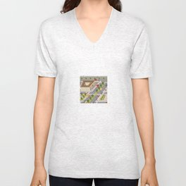Perspective view of the urban neighborhoods Unisex V-Neck