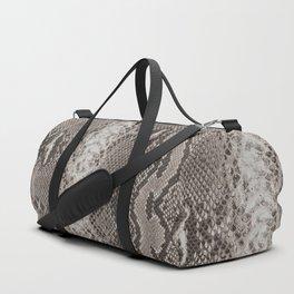 Python Snakeskin Print Duffle Bag