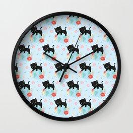 Earth Day Cat Wall Clock
