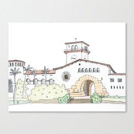 Santa Barbara County Courthouse Canvas Print