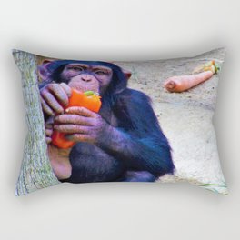 Baby Monkey has a Snack Rectangular Pillow