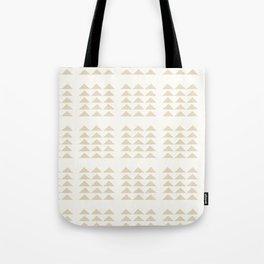 Tribal Triangles in Tan Tote Bag