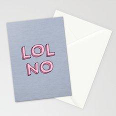 LOL NO Stationery Cards