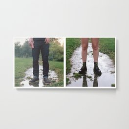 Kneat Knees Metal Print