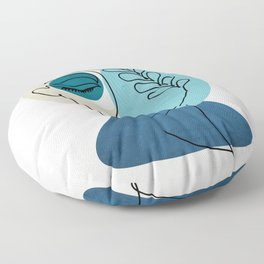 woman in loved  Floor Pillow