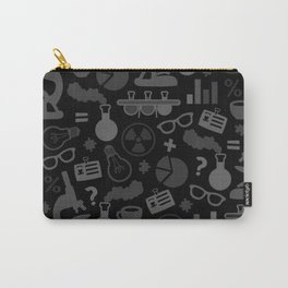 Grey and Black Science Pattern Carry-All Pouch