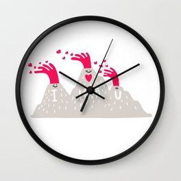 I Lava U Wall Clock