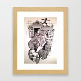 Extra Sensory Perception - Graphite on Paper - 2013 Framed Art Print