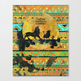 Timon, Pumbaa & Simba. Canvas Print