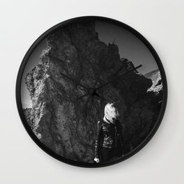 Volcanic View Wall Clock