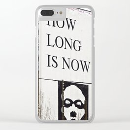 HOW LONG IS NOW - EAST BERLIN Clear iPhone Case