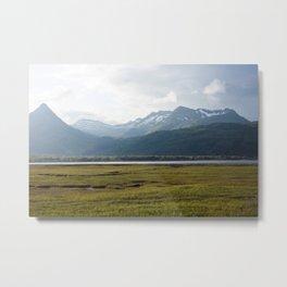 Misty Mountain Sunset Photography Print Metal Print