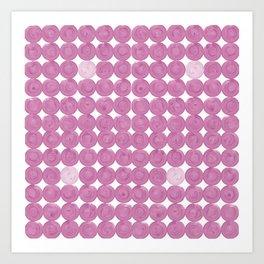 Pinker dot dot pink dot small Art Print