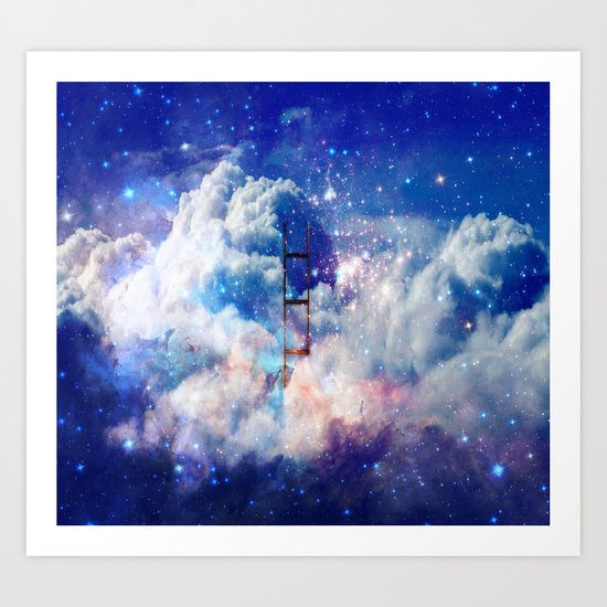 Jacob's Ladder in a Deep Dream Art Print