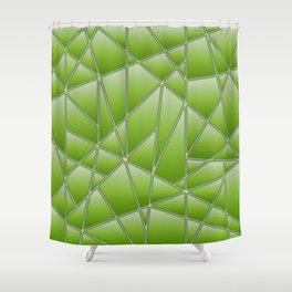geometric in lime green shower curtain