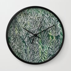 Snow Pines(Light Green) Wall Clock