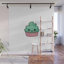 happy cupcake Wall Mural