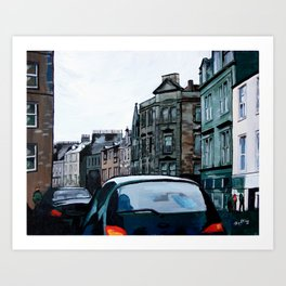 Stained Glass Stirling Art Print