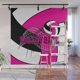 Volleyball Sport Game - Net - Hot Pink Wall Mural