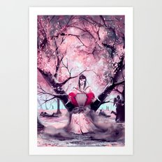 According to my jealousy Art Print