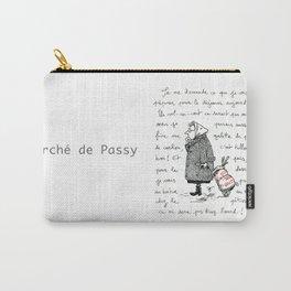 A Few Parisians: Marché de Passy by David Cessac Carry-All Pouch