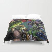 ninja turtles Duvet Covers featuring Teenage Mutant Ninja Turtles by artbywilliam