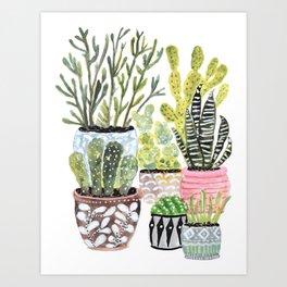 Karen Fields Cactus Garden Art Print