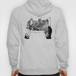 platine board conductor tracks splatter watercolor black white Hoody