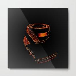 Copper Orange retRo Belt Metal Print