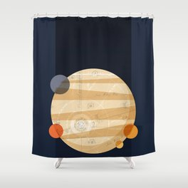 Except Europa Shower Curtain