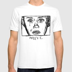 Miley C. Mens Fitted Tee White SMALL