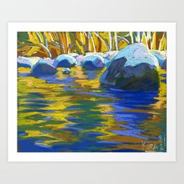 Golden Waters of Lynn Creek. #2 Art Print