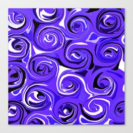 Bright Blue Violet Swirls Canvas Print