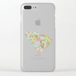 South Carolina Florals Clear iPhone Case