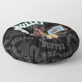 Cartoon Bullet - #1 Drug Dog (Sniffer Dog) Floor Pillow