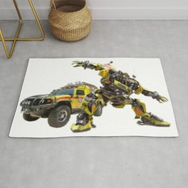 Autobot Bumblebee Transformers Vehicle And Robot Rug