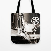 theater Tote Bags featuring Turnage Theater by Justin Alan Casey