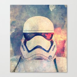 Stormtrooper in flames Canvas Print