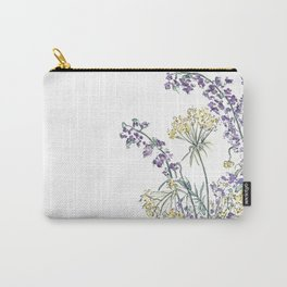 Wild Flowers Ink and Watercolor  Carry-All Pouch