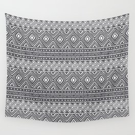 African Mud Cloth // Charcoal Wall Tapestry