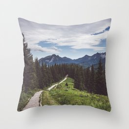 Greetings from the trail - Landscape and Nature Photography Throw Pillow