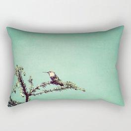 Hummingbird at rest Rectangular Pillow
