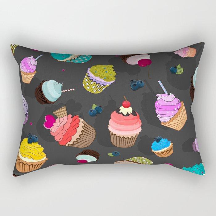 Cupcake day Rectangular Pillow