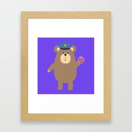 Police Office Brown Bear Framed Art Print