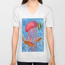Jelly Fish Unisex V-Neck