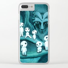 Kodama and the Forest Spirit Clear iPhone Case