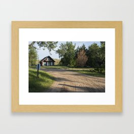 Lake Michigan Cottage Framed Art Print