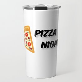 Our Pizza Night (in Black) Travel Mug