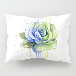Flower Rose Watercolor Painting 12th Man Art Pillow Sham
